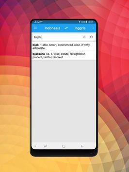 Kamus Bahasa Inggris Indonesia Digital screenshot 1