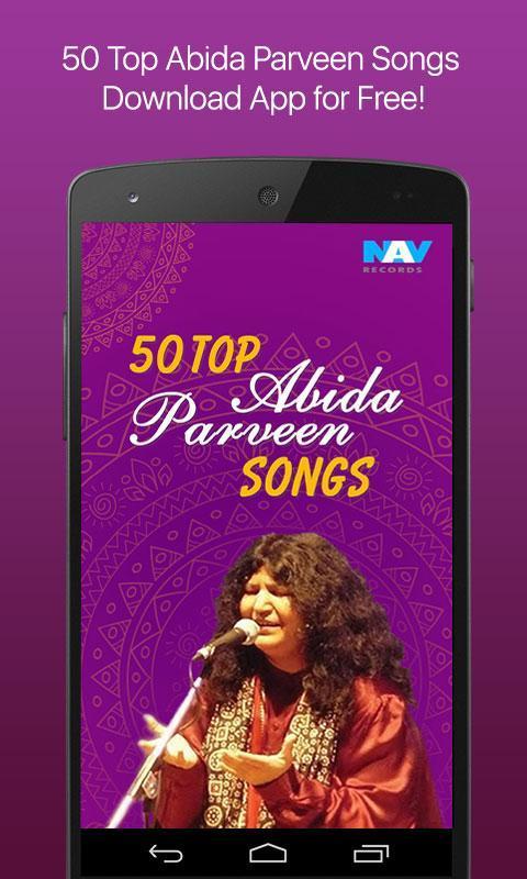50 Top Abida Parveen Songs Poster