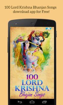 100 Lord Krishna Bhajans Songs poster
