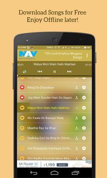 100 Lord Krishna Bhajans Songs screenshot 1