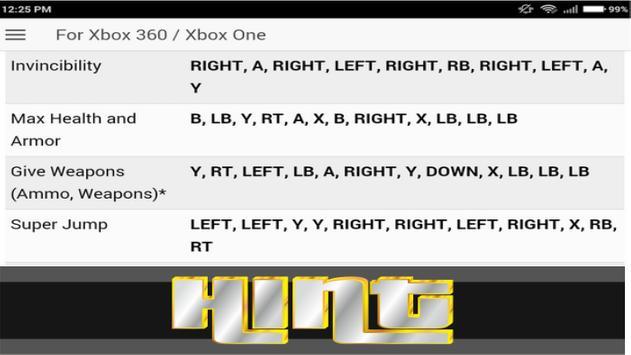 Cheat for - Grand Theft Auto: iFruit 2k17 screenshot 2