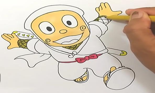How to draw ninja hattori poster