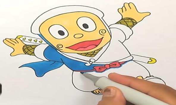 How to draw ninja hattori apk screenshot