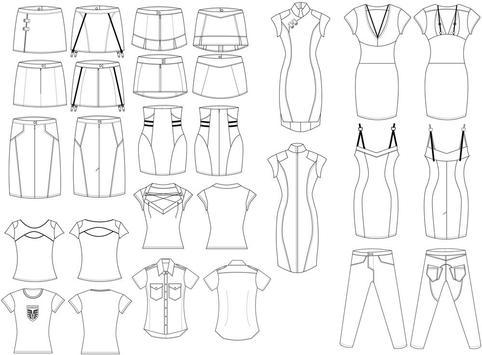 Fashion Design Flat Sketch HD apk screenshot