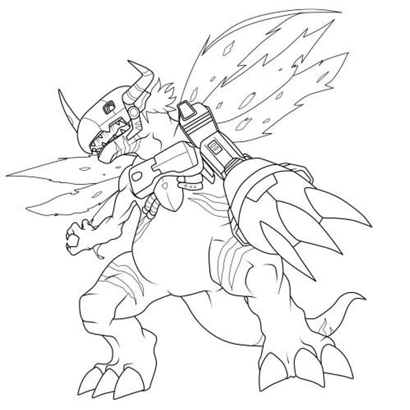 digimon data squad coloring pages - photo#12