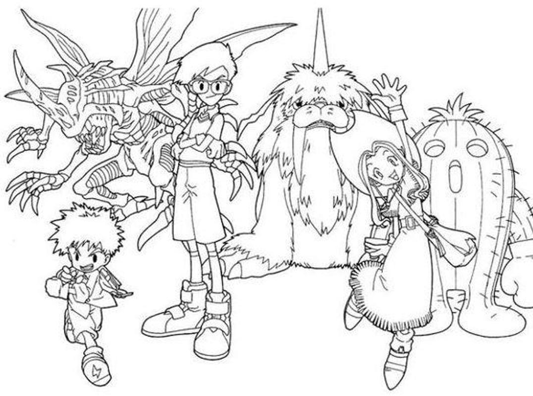 digimon data squad coloring pages - photo#46