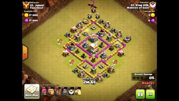 War Base Layouts for COC TH6 apk screenshot