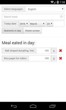 Daily nutrients screenshot 1