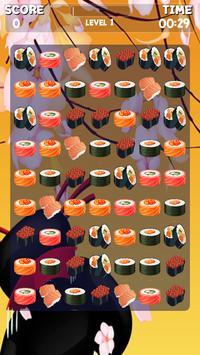 Sushi Jeu Match 3 capture d'écran 10