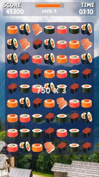 Sushi Jeu Match 3 capture d'écran 7