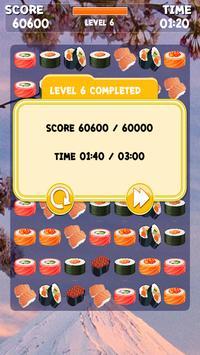 Sushi Jeu Match 3 capture d'écran 9