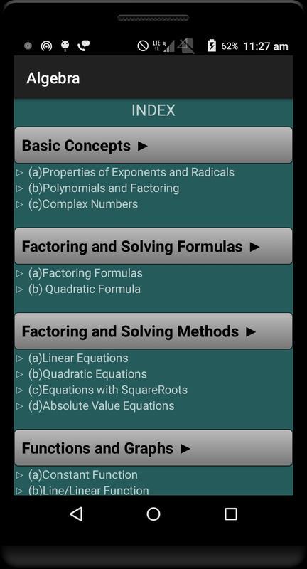 Math Formulae Lite (Free) APK Download - Free Education APP for ...