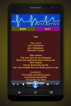 Song Lyrics Jaci Velasquez screenshot 2