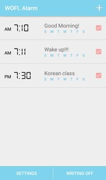 Voca Alarm for learning Korean poster