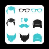 Man Face Editor : Hair style , Beard, Cap, etc icon