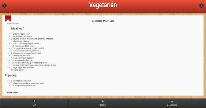 Vegetarian Food Recipes apk screenshot