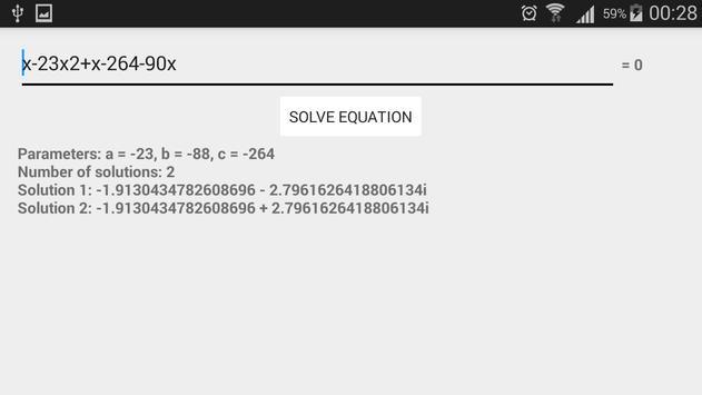 Quadratic Equation Solver screenshot 3