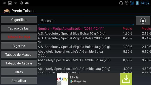 Precio Tabaco apk screenshot