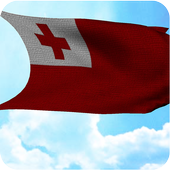 Tonga Flag 3D Free icon
