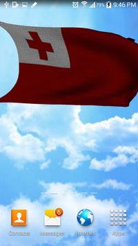 Tonga Flag 3D Free screenshot 3