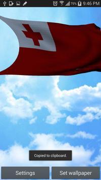 Tonga Flag 3D Free screenshot 2
