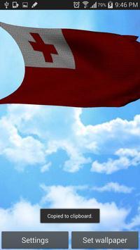 Tonga Flag 3D Free screenshot 4