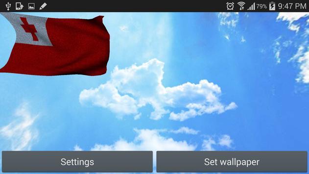 Tonga Flag 3D Free screenshot 6