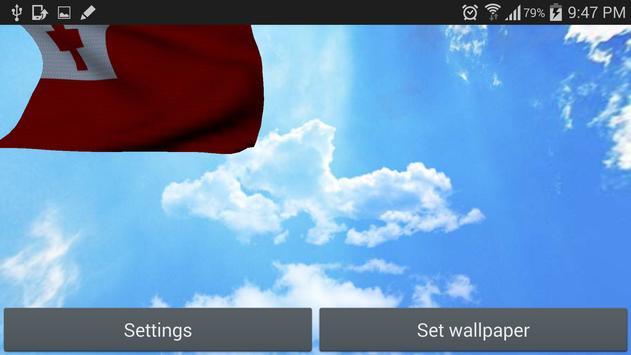 Tonga Flag 3D Free screenshot 8