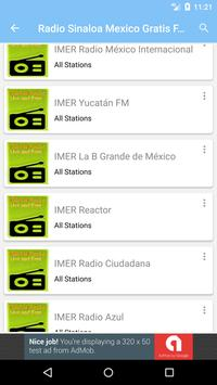 Sinaloa Mexico Radio gratis FM apk screenshot