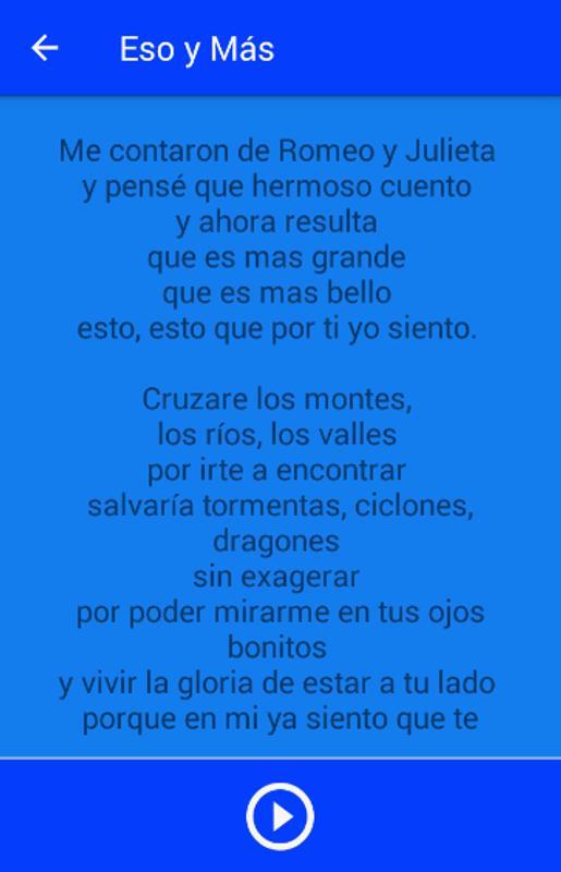 romeo y julieta joan sebastian lyrics