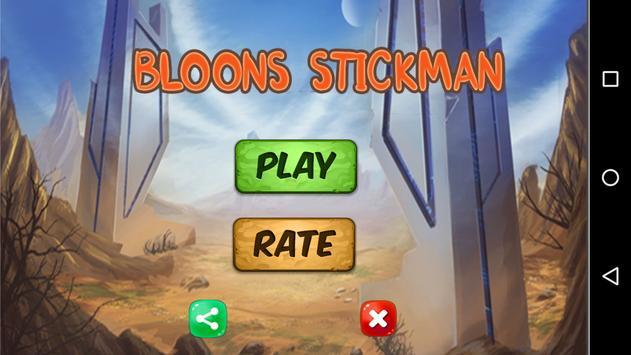 Bloons Stickman Adventure Games World poster
