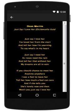 Dean Martin Love Songs part 2 apk screenshot