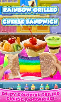 Rainbow Grilled Cheese Sandwich Maker! DIY cooking poster
