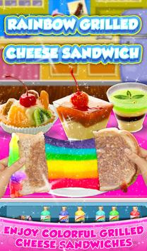 Rainbow Grilled Cheese Sandwich Maker! DIY cooking screenshot 5