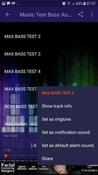 Music Test Bass Audio System screenshot 3
