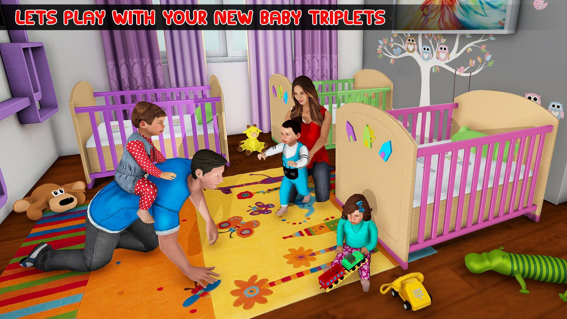 New Mother Baby Triplets Family Simulator For Android Apk Download