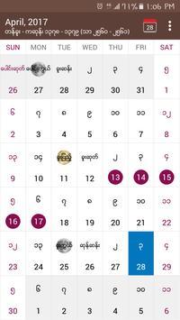 MMCalendarU - Myanmar Calendar & Exchange Rates poster