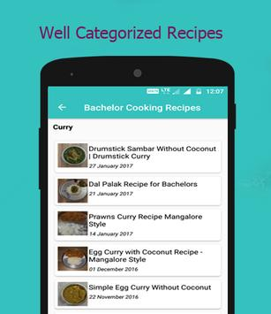 Bachelor Cooking Recipes apk screenshot