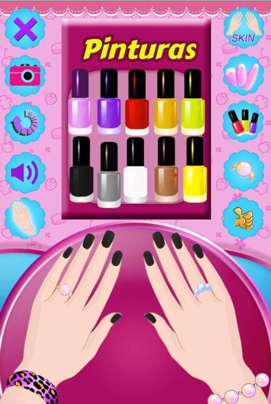 Barbie nail art video games using fun paints and colors polish at.