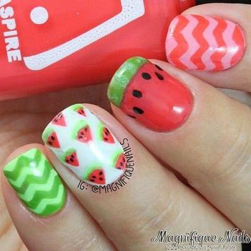 100+ Cute Watermelon Nail Art apk screenshot