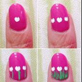 50+ Cute Tulip Nail Art Ideas 2018 icon