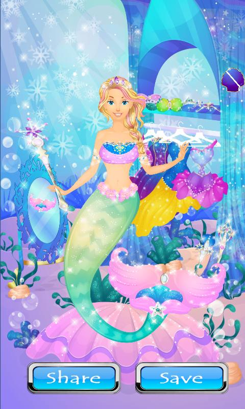 Frost Mermaid Games and Dress Up Salon For Girls poster
