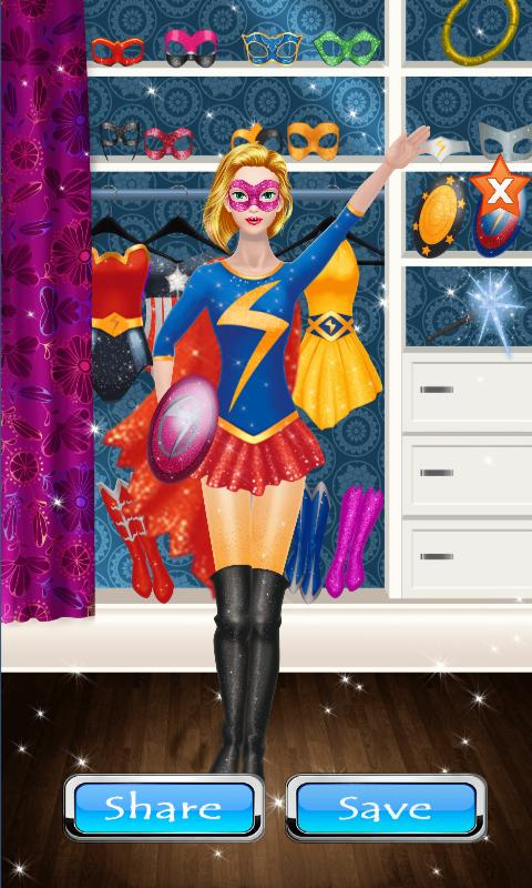 Hero Girl Make up Salon & Dress Up Games For Girls poster