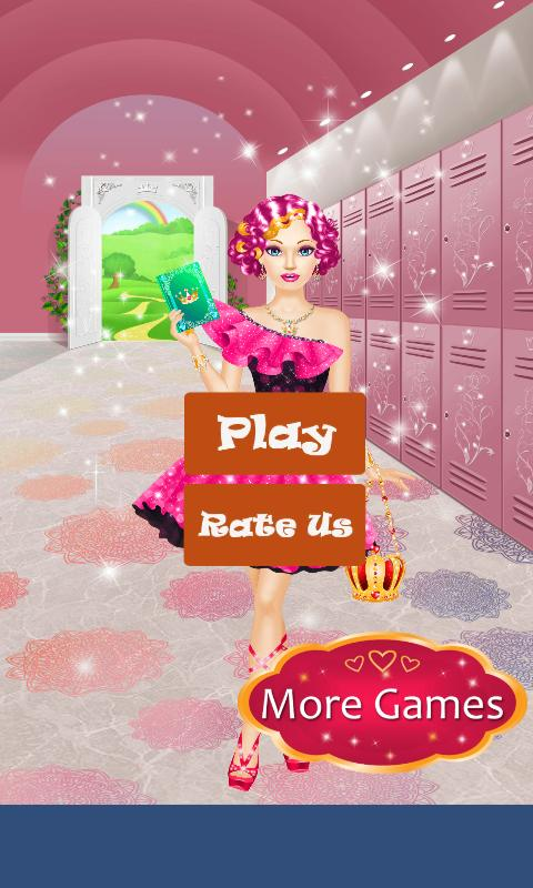High School Dress Up Games For Girls & Make Up poster