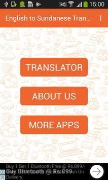 English to Sundanese Translator and Vice Versa poster