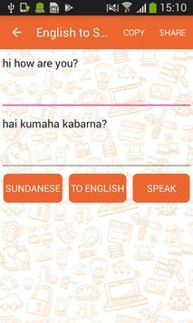 English to Sundanese Translator and Vice Versa screenshot 1