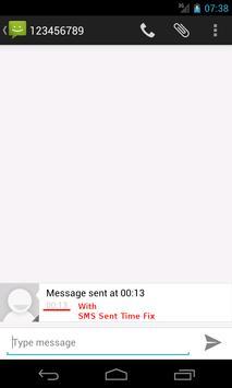 SMS Sent Time Fix apk screenshot