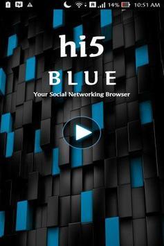 Hi5 Blue poster