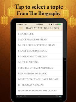Hazrat Abu Bakar R.A Life History Quotes And Quiz apk screenshot