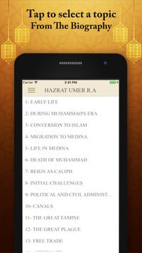 Hazrat Umer Real Life Biography Quotes and Quizes apk screenshot